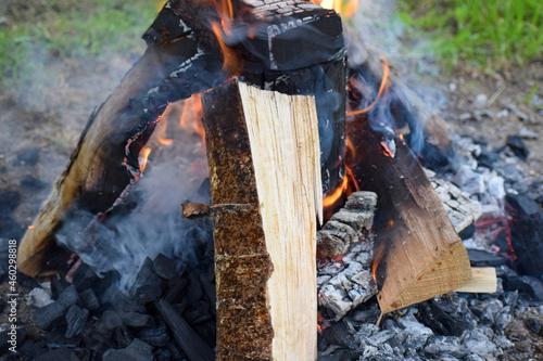 Ognisko ogień płomienie