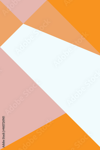 abstract, shapes rosewater, peach, orange wallpaper background vector illustration