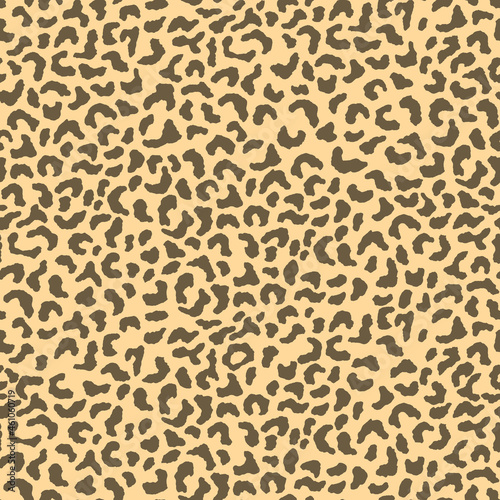 Abstract modern leopard seamless pattern. Animals trendy background. Beige and brown decorative vector stock illustration for print, card, postcard, fabric, textile. Modern ornament of stylized skin