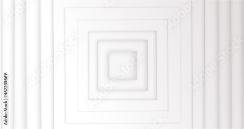 Image of 3D squares moving against white background