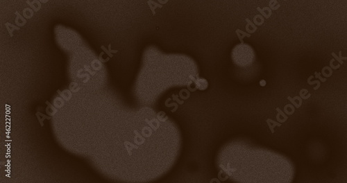 Image of multiple brown splodges and lines moving on seamless loop