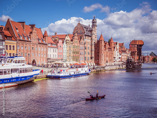 Panorama skyline of Gdansk in Poland