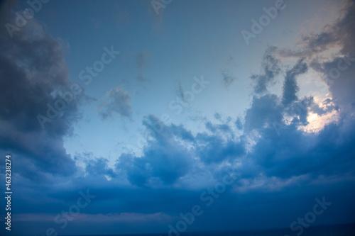 Chmury, niebo
