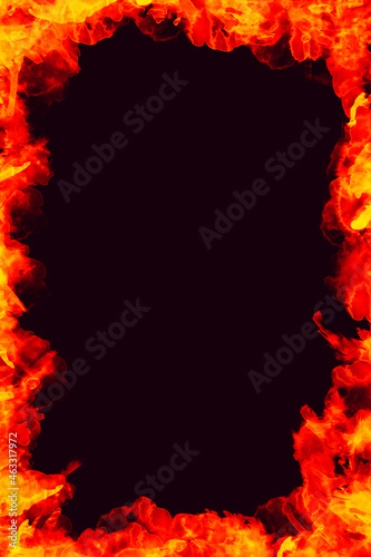 Czarne tło z ogniem.